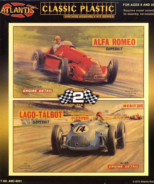 Atlantis 1/24 Alfa Romeo And Talbot-Lago F.1 Cars