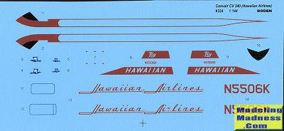 Neu Roden 334-1:144 Convair CV-340 Hawaiian Airlines