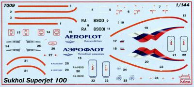 Пассажирский авиалайнер Сухой Суперджет 100 (Sukhoi SuperJet 100) .