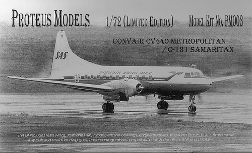 Proteus Models 1/72 Convair CV-440/C-131.  Often times an airplane comes at the right time in the scheme of things...
